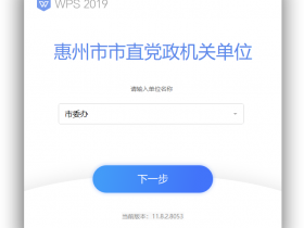 WPS Office 2019 专业版 11.8.2.8053 惠州市直机关单位版